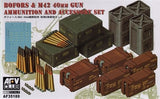 AFV Club Military 1/35 British Bofors & M42 40mm Gun Ammo & Accessory Set Kit