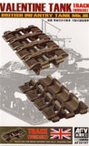 AFV Club Military 1/35 British Mk III Valentine Workable Track Links Kit