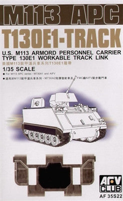 AFV Club Military 1/35 US M113 APC T130E1 Workable Track Links Kit