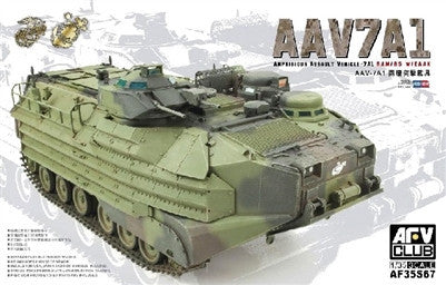 AFV Club Military 1/35 AAVP7A1 RAM/RS w/EAAK Amphibious Assault Vehicle Kit