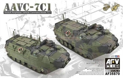 AFV Club Military 1/35 AAVC7C1 Assault Amphibian Vehicle Command Kit