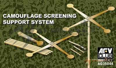 AFV Club Military 1/35 Camouflage Screening Brass/Photo-Etch Support System for Netting