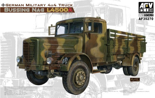 AFV Club Military 1/35 German Bussing Nag 4x4 L4500A Military Truck Kit