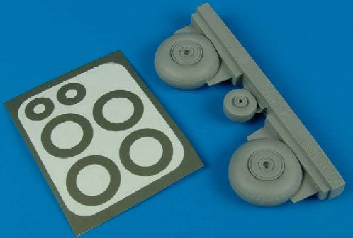 Aires Hobby Details 1/48 C47 Wheels & Paint Masks For TSM