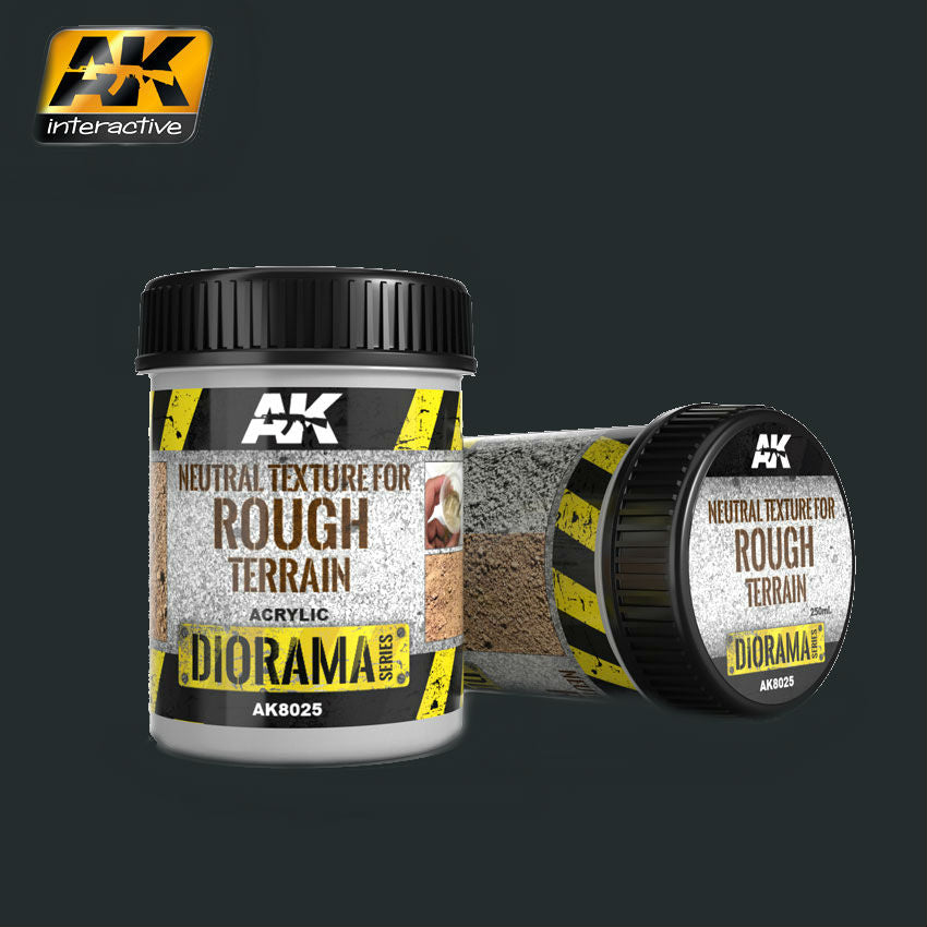 AK Interactive Diorama Series: Neutral Texture for Rough Terrain Acrylic 250ml Bottle