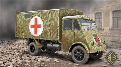Ace Military Models 1/72 AHN 3,5t French Medical Van Kit