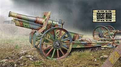 Ace Military Models 1/72 Cannon de 155C M1917 French Howitzer Gun w/Wooden-Type Wheels Kit