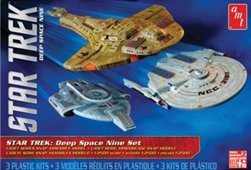AMT Sci-Fi Models 1/2500 Star Trek Deep Space Nine Cadet Series Motion Picture Set: USS Saratoga, USS Defiant & Cardassian Galor Class Cruiser (3 Snap Kits)