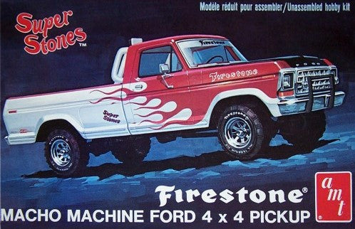 AMT Model Cars 1/25 1978 Ford 4x4 Firestone Super Stones Pickup Truck Kit