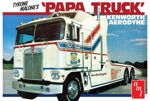 AMT Model Cars 1/25 Tyrone Malone Kenworth Transporter Papa Truck Kit