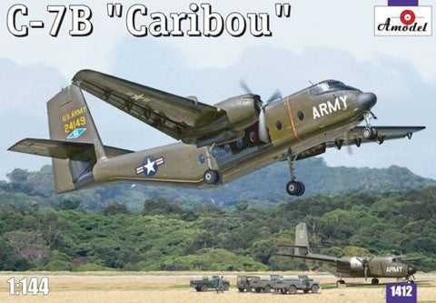 A Model From Russia 1/144 C7B Caribou US Cargo Aircraft Kit