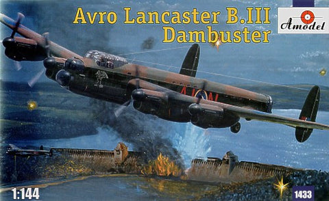 A Model From Russia 1/144 Avro Lancaster B III Dambuster Bomber Kit