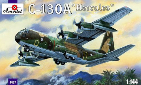 A Model From Russia 1/144 C130A Hercules USAF Tactical Transport Aircraft Kit