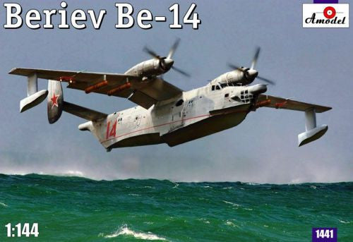 A Model From Russia 1/144 Be14 Soviet Amphibious ASW Aircraft Kit