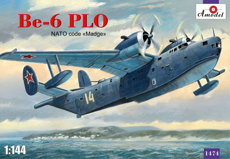A Model From Russia 1/144 Beriev Be6 PLO NATO Code Madge Aircraft Kit