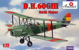 A Model From Russia 1/72 DH60G III Moth Major 2-Seater Biplane Kit