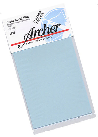 Archer Fine Transfers Clear Decal Film Converts Dry Transfers to Waterslide Decals (2 Sheets)