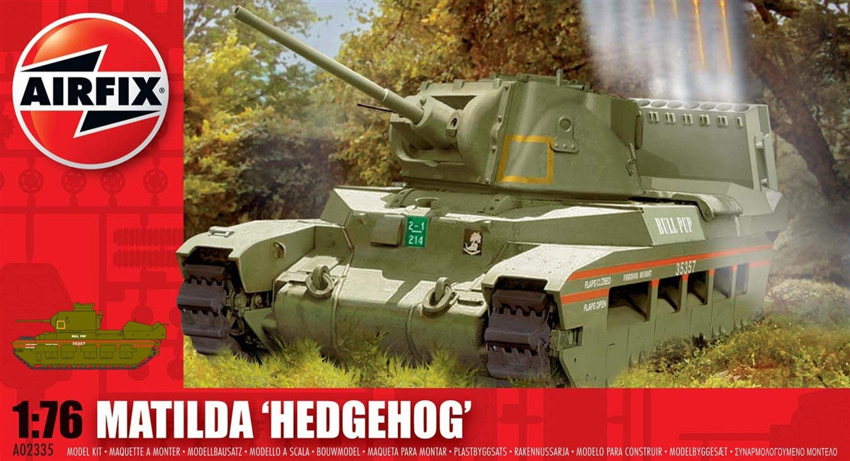 Airfix Military 1/76 Matilda Hedgehog Tank Kit