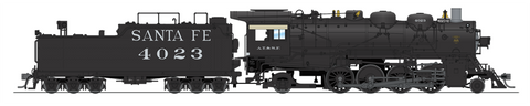 Broadway Limited HO Class 4000 2-8-2 Mikado w/Road Pilot - Sound & DCC - Paragon3 - Santa Fe #4099 (Black, Road Pilot)