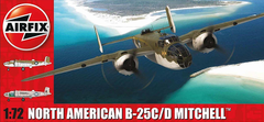Airfix Aircraft 1/72 B25C/D Mitchell Bomber (New Tool) Kit