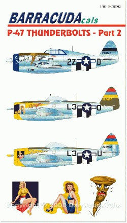 Barracuda Studios 1/48 P47 Pt.2 for TAM/HSG (Decal)