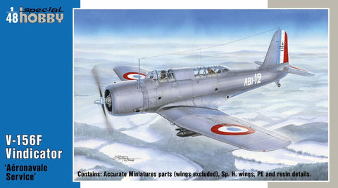 Special Hobby Aircraft 1/48 V156F Vindicator Aeronavale Service Aircraft (New Tool) Kit