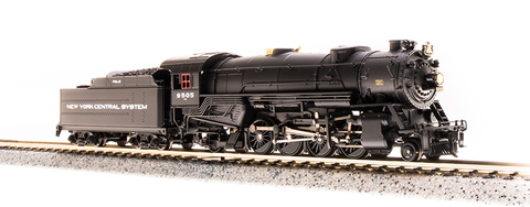Broadway Limited N USRA 2-8-2 Heavy Mikado - Sound and DCC - Paragon3 - New York Central P&LE 9505 (Black, Graphite, System Lettering)