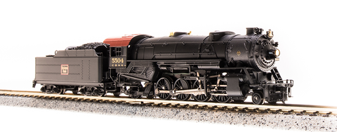 Broadway Limited N USRA 2-8-2 Heavy Mikado - Sound and DCC - Paragon3 - Chicago, Burlington & Quincy 5506 (Black, Graphite, Tuscan)