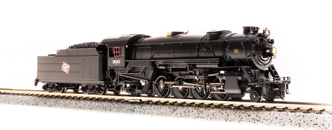 Broadway Limited N USRA 2-8-2 Heavy Mikado - Sound and DCC - Paragon3 - Milwaukee Road 300 (Black, Red, CMStP&P Logo)