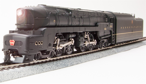 Broadway Limited HO Class T1 4-4-4-4 Duplex As-Delivered with Sound and DCC - Paragon3 - Pennsylvania Railroad Painted, Unlettered (Black, Gold, Red)
