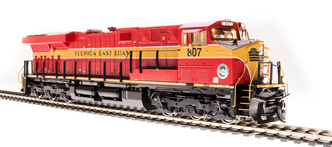 Broadway Limited HO GE ES44AC Paragon3 Sound/DC/DCC, Smoke - FEC 816 - (Red & Yellow)