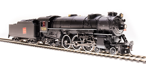 Broadway Limited HO USRA 4-6-2 Heavy Pacific - Sound & DCC - Paragon3 - CN #5298 (Black, Graphite, Red Tilted Rectangle Logo)