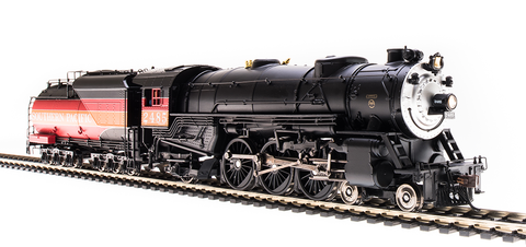 Broadway Limited HO USRA 4-6-2 Heavy Pacific - Sound & DCC - Paragon3 - SP #2486, Daylight Scheme (Black, Orange, Red)