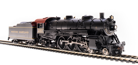 Broadway Limited HO USRA 4-6-2 Light Pacific - Sound & DCC - Paragon3 -  Western Maryland 203 (Black, Yellow, Tuscan)