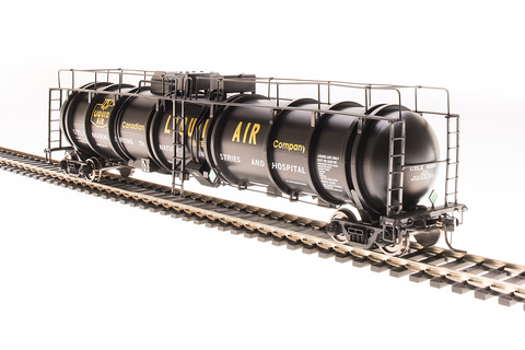 Broadway Limited N High-Capacity Cryogenic Tank Car 2-Pack - RTR - Canadian Liquid Air Co. (Black, Yellow)