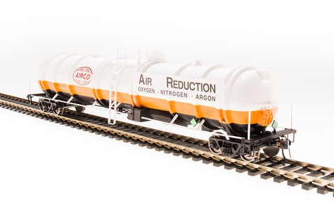 Broadway Limited N High-Capacity Cryogenic Tank Car 2-Pack - RTR - AirCo (Orange, Black, White, Blue)