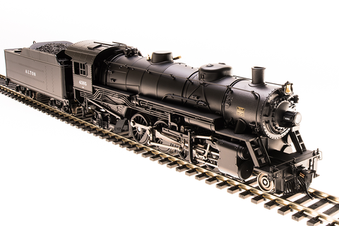 Broadway Limited HO USRA 2-8-2 Light Mikado with Sound and DCC - Paragon3 - Chicago & Alton 4390 (Black, Graphite)