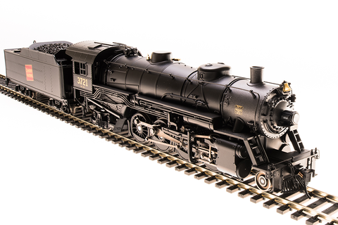Broadway Limited HO USRA 2-8-2 Light Mikado with Sound and DCC - Paragon3 - Canadian National #3721 (Black, Graphite; Square Logo)