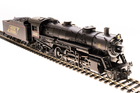 Broadway Limited HO USRA 2-8-2 Light Mikado with Sound and DCC - Paragon3 - Maine Central 624 (Black, Graphite, Yellow, Red)
