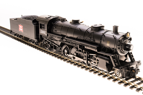 Broadway Limited HO USRA 2-8-2 Light Mikado with Sound and DCC - Paragon3 - Rock Island 2302 (Black, Graphite, Red Shield Logo)