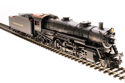 Broadway Limited HO USRA 2-8-2 Light Mikado with Sound and DCC - Paragon3 - Pennsylvania Railroad #9628 (Black, Graphite, Tuscan)