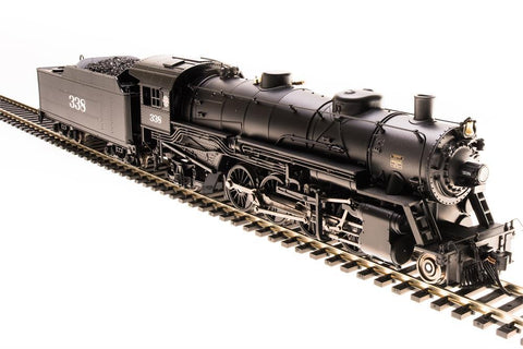 Broadway Limited HO USRA 2-8-2 Light Mikado with Sound and DCC - Paragon3 - Seaboard Air Line 338 (Black, Graphite)