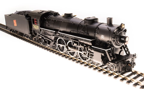 Broadway Limited HO USRA 4-6-2 Light Pacific - Sound and DCC - Paragon3 - Grand Trunk Western 5628 (Black, Graphite, Red Tilted Rectangle Logo)