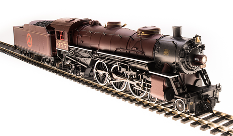 Broadway Limited HO USRA 4-6-2 Light Pacific - Sound and DCC - Paragon3 - Chicago & Alton 657 (Maroon, Red, Gray)