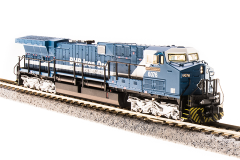 Broadway Limited Imports N GE AC6000 with Sound and DCC - Paragon3 - BHP Iron Ore 6071 Chichester (Blue, White)