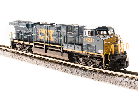 Broadway Limited Imports N GE AC6000 with Sound and DCC - Paragon3 - CSX 5011 (YN3 Dark Future, Blue, Yellow)