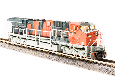 Broadway Limited Imports N GE AC6000 with Sound and DCC - Paragon3 - BHP Iron Ore 6073 Port Hedland (Bubble Scheme, Orange, Gray)