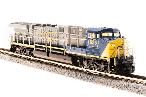 Broadway Limited Imports N GE AC6000 with Sound and DCC - Paragon3 - CSX 653 (YN2, Gray, Blue, Yellow)