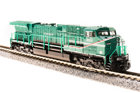 Broadway Limited Imports N GE AC6000 with Sound and DCC - Paragon3 - General Electric #6000 (Demonstrator Scheme; Green, Red, White)