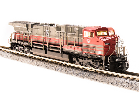 Broadway Limited Imports N GE AC6000 with Sound and DCC - Paragon3 - General Electric 6001 (Demonstrator, Red, Gray)